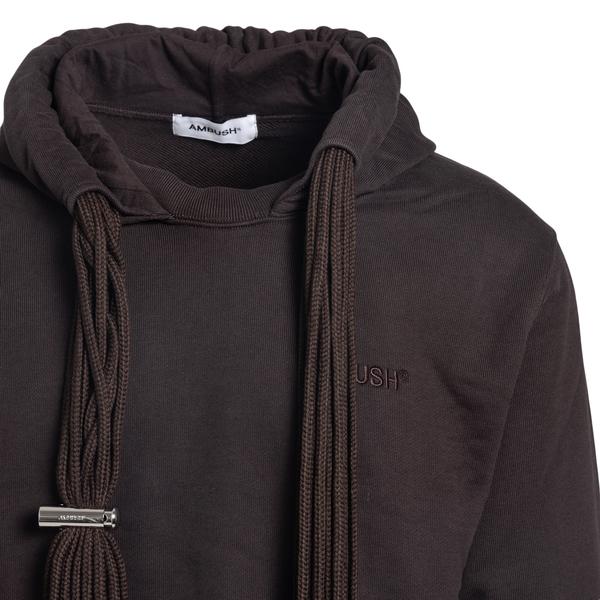 Brown sweatshirt with tonal logo                                                                                                                       AMBUSH