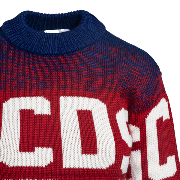 Multicolored crop sweater with logo                                                                                                                    GCDS