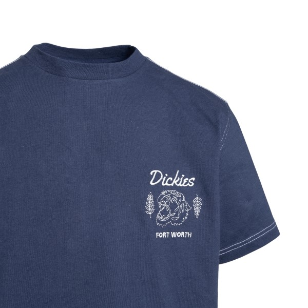Navy blue T-shirt with logo embroidery                                                                                                                 DICKIES