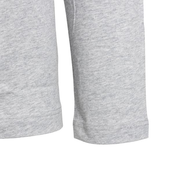 T-shirt grigia a maniche lunghe con logo                                                                                                               COMME DE GARCONS PLAY                              COMME DE GARCONS PLAY