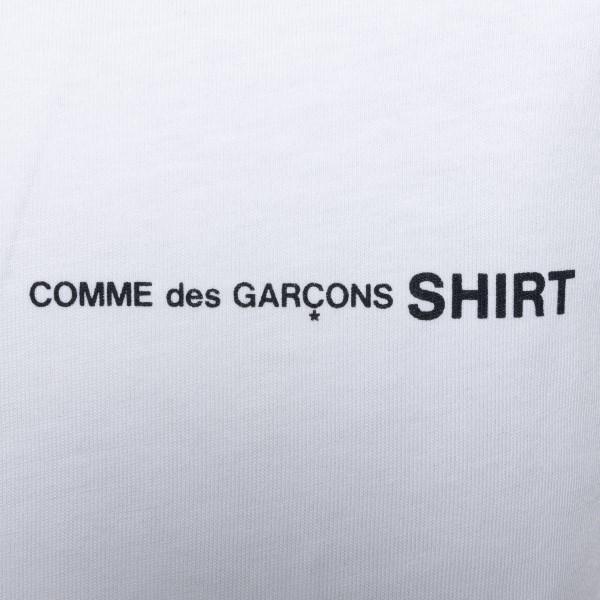 T-shirt bianca con logo                                                                                                                                COMME DE GARCONS PLAY                              COMME DE GARCONS PLAY