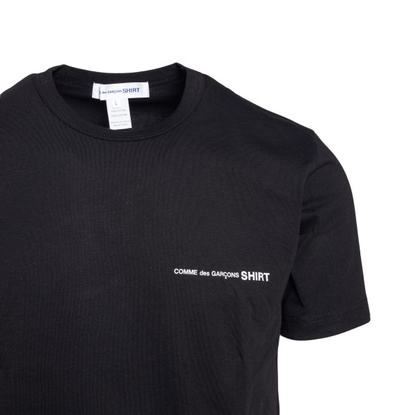 Black T-shirt with logo print                                                                                                                          COMME DE GARCONS PLAY