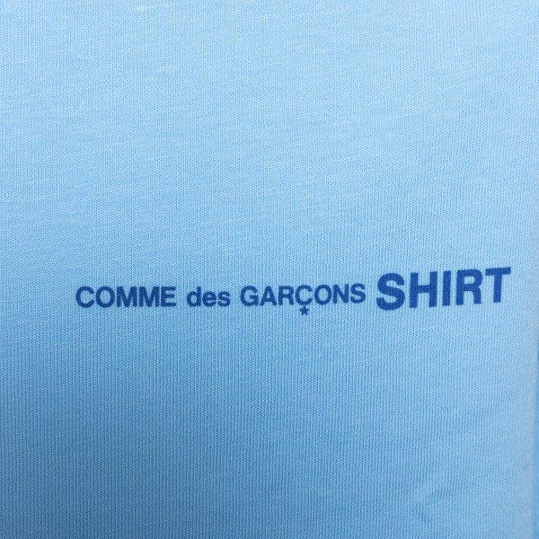 Light blue T-shirt with logo print                                                                                                                     COMME DE GARCONS PLAY