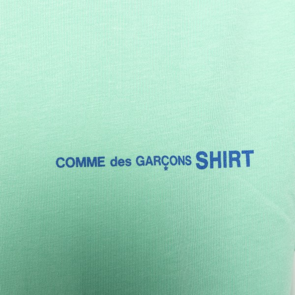 Mint green T-shirt with logo                                                                                                                           COMME DE GARCONS PLAY