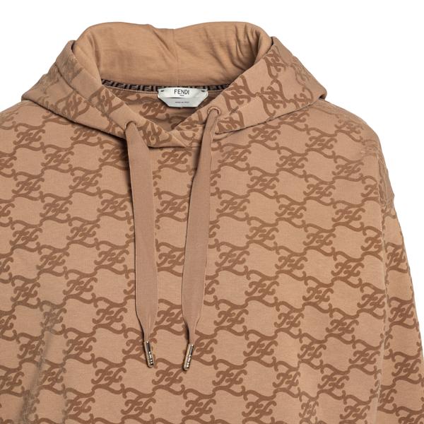 Felpa beige con pattern logo                                                                                                                           FENDI FENDI