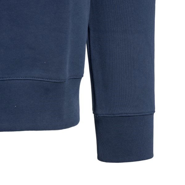 Blue sweatshirt with white brand name                                                                                                                  A.P.C.
