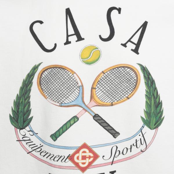 Felpa bianca con stampa Tennis                                                                                                                         CASABLANCA CASABLANCA