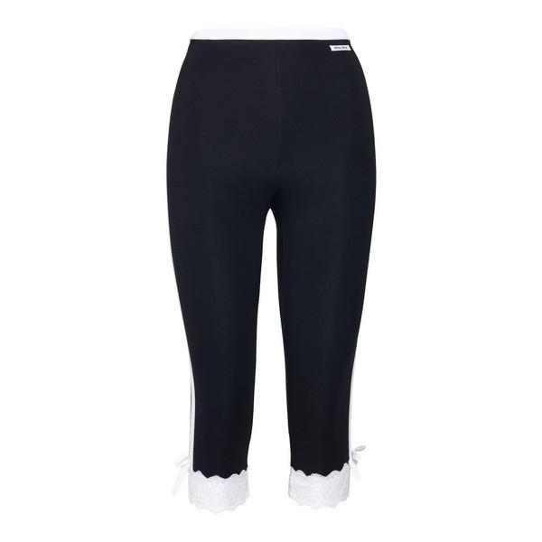 Black leggings with lace edges                                                                                                                        Miu miu MJP227 front