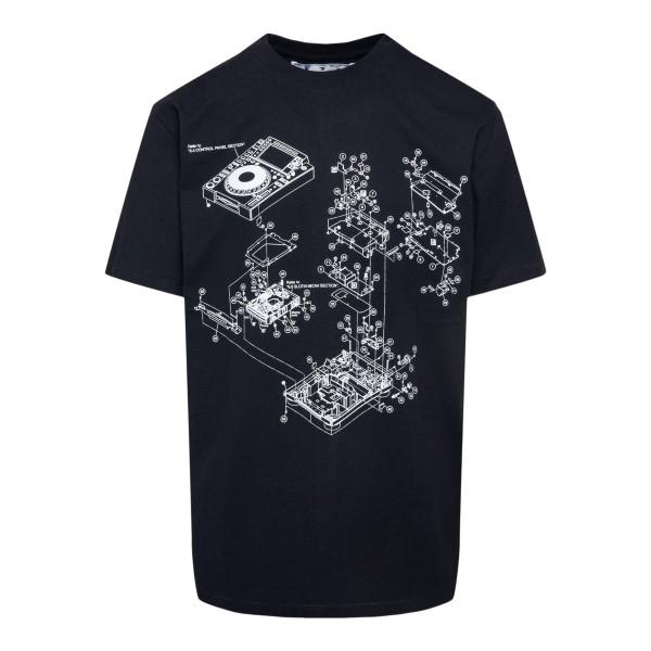 T-shirt nera con stampa Arrows a tono                                                                                                                  OFF WHITE                                          OFF WHITE