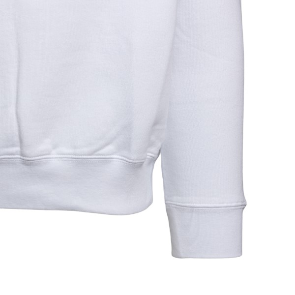 Felpa bianca girocollo con stampa Arrows                                                                                                               OFF WHITE OFF WHITE