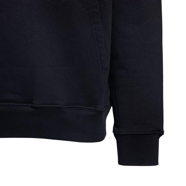 Black sweatshirt with graphic print                                                                                                                    OFF WHITE