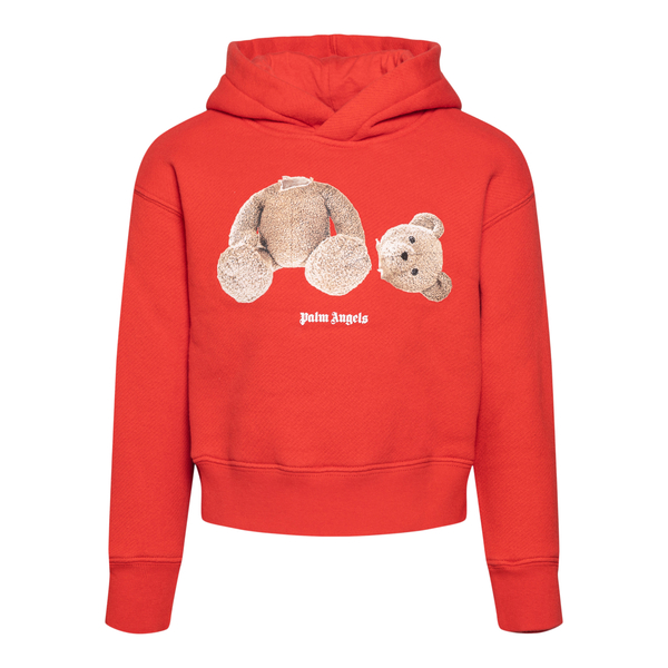 Red sweatshirt with teddy bears                                                                                                                        PALM ANGELS