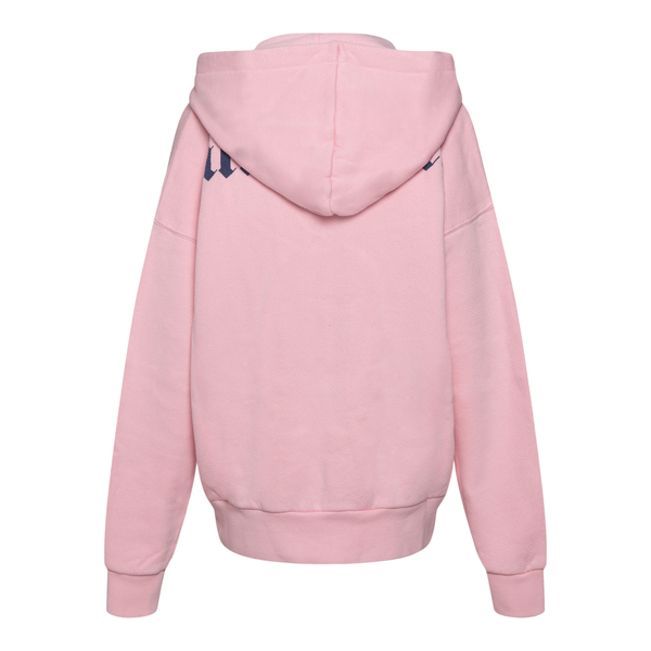 Pink sweatshirt with hood and brand name                                                                                                               PALM ANGELS