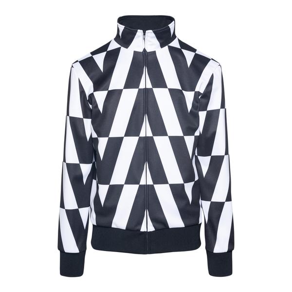 Two-tone sweatshirt with logo pattern                                                                                                                 Valentino WV0MF19Q back