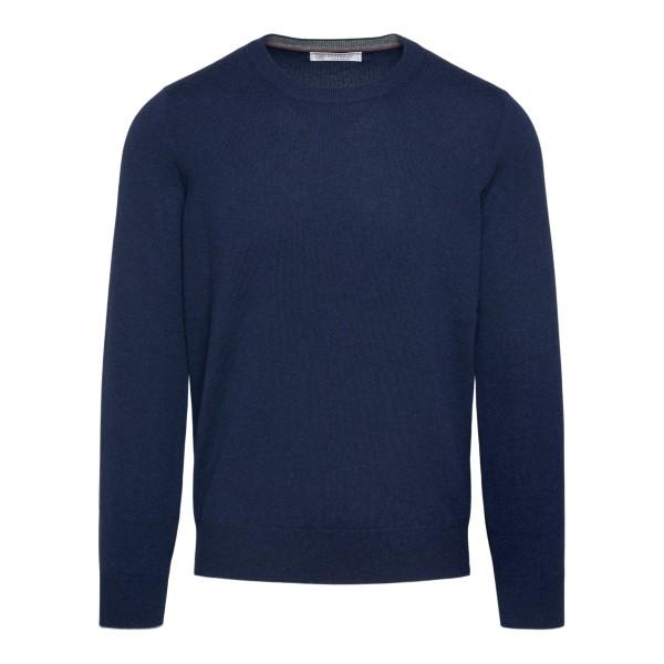 Minimal blue sweater                                                                                                                                   BRUNELLO CUCINELLI