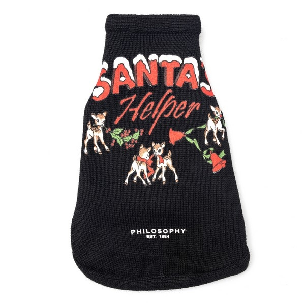 Black Christmas coat for cats and dogs                                                                                                                Philosophy 0903 front