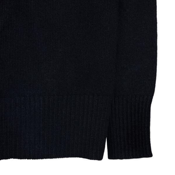 Maglione nero con logo ricamato                                                                                                                        PHILOSOPHY PHILOSOPHY