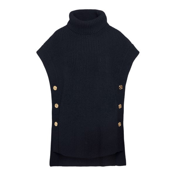 Black sleeveless sweater with gold buttons                                                                                                             VERSACE