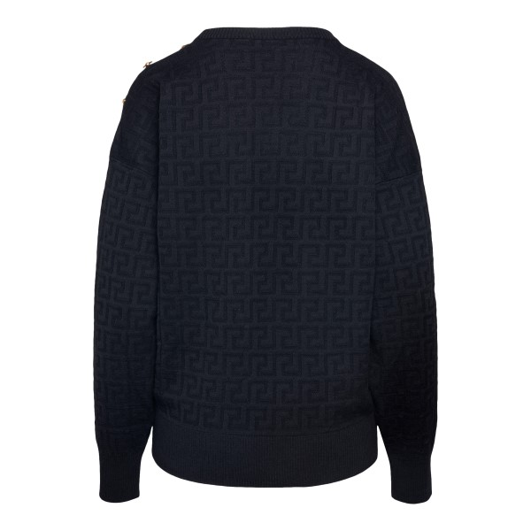 Black sweater with Greca pattern                                                                                                                       VERSACE