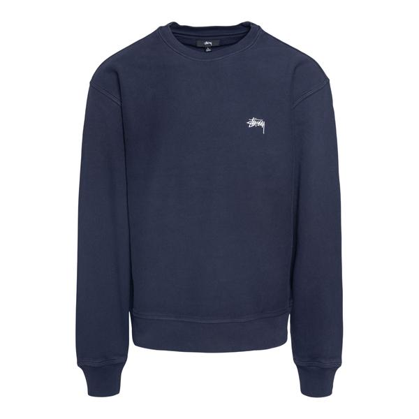 Blue crewneck sweatshirt with logo embroidery                                                                                                         Stussy 118416 back