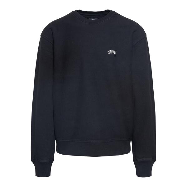 Black crewneck sweatshirt with logo embroider                                                                                                         Stussy 118416 back