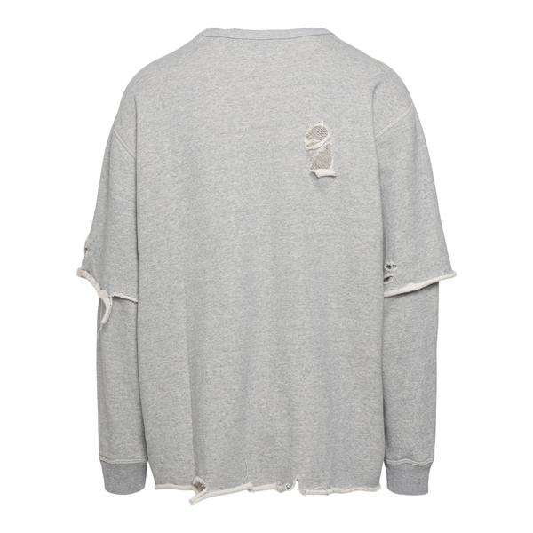 Grey sweatshirt in layered design                                                                                                                      MISBHV