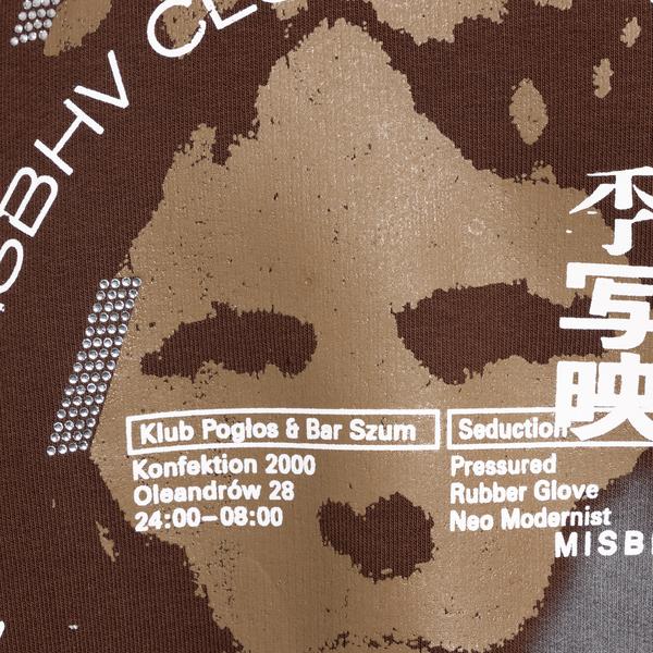 Brown sweatshirt with graphic print                                                                                                                    MISBHV