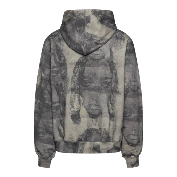 Grey sweatshirt with face prints                                                                                                                       MISBHV