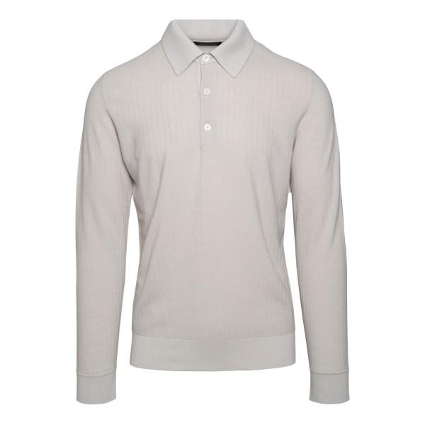 Light grey polo shirt                                                                                                                                 Zegna 132 back