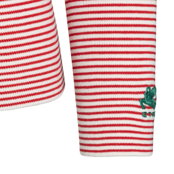 White and red striped top                                                                                                                              ETRO
