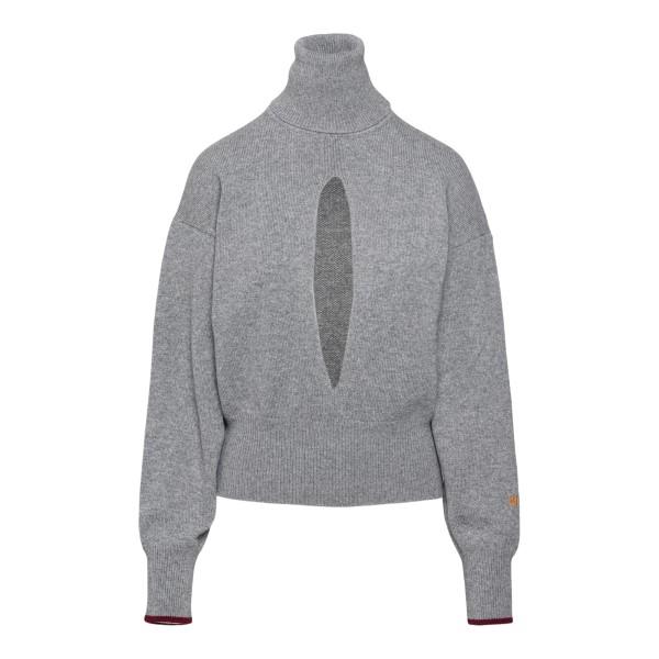Grey sweater with front notch                                                                                                                         Victoria Beckham 1521KJU002903A back