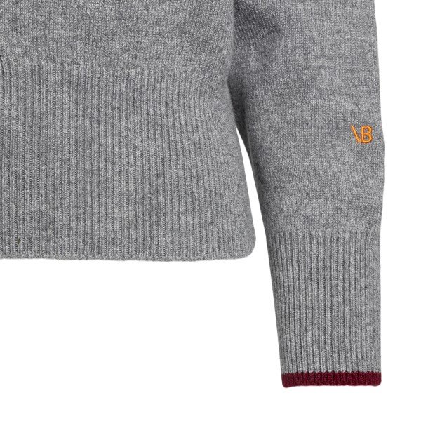 Grey sweater with front notch                                                                                                                          VICTORIA BECKHAM