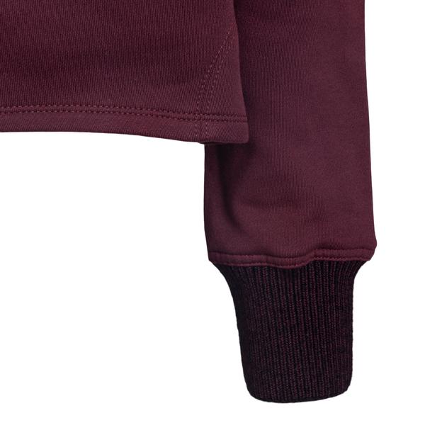 Burgundy crop sweatshirt with PLS patch                                                                                                                PHILOSOPHY