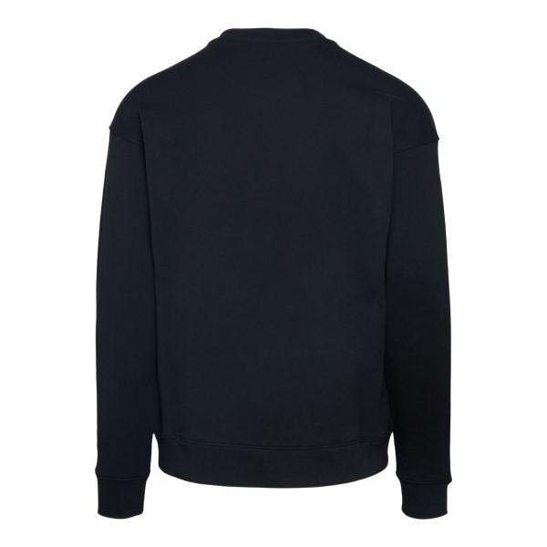 Black sweatshirt with tonal logo print                                                                                                                 MOSCHINO