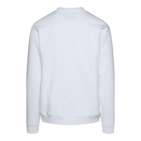 White crewneck sweatshirt with logo                                                                                                                    MOSCHINO