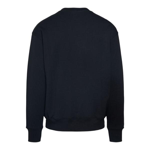 Black crewneck sweatshirt with logo embroider                                                                                                          MOSCHINO