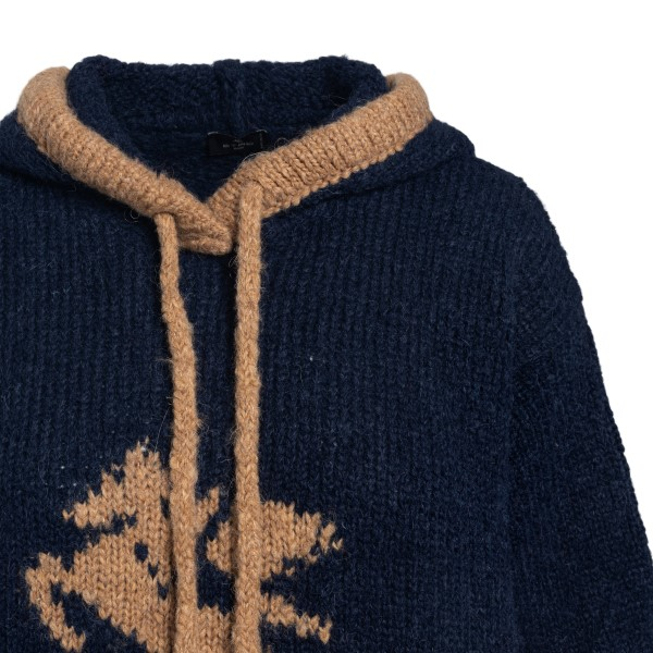 Blue hooded sweater                                                                                                                                    ETRO