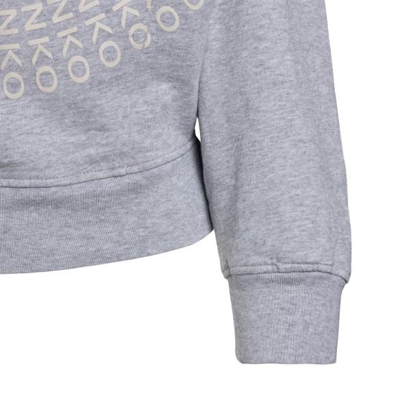 Grey sweatshirt with logo print                                                                                                                        PINKO
