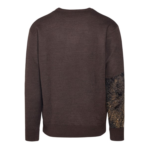 Brown sweater with wolf                                                                                                                                ETRO