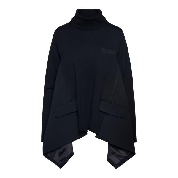 Maglione a mantella nero con tasche                                                                                                                   Sacai 2105664 retro