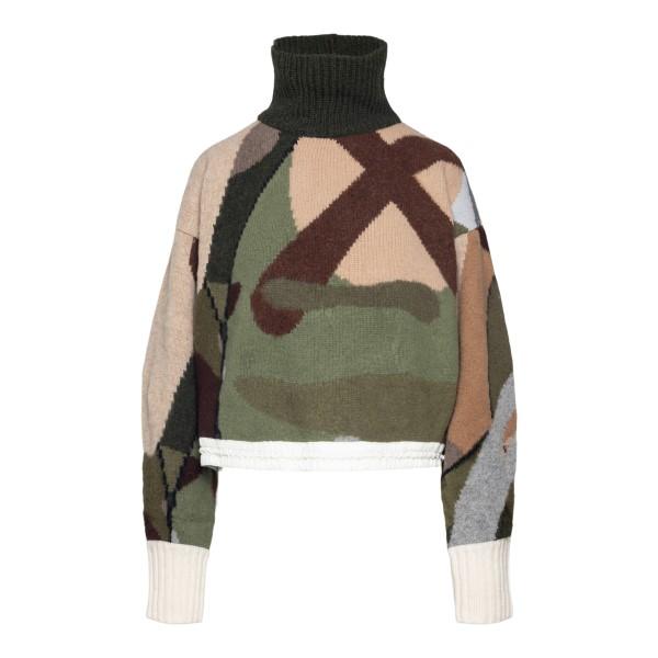Camouflage turtleneck sweater                                                                                                                         Sacai 2105688 back