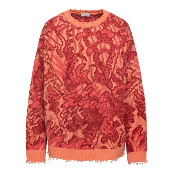 Orange sweater with graphic pattern                                                                                                                   Etro 212D187279208 back