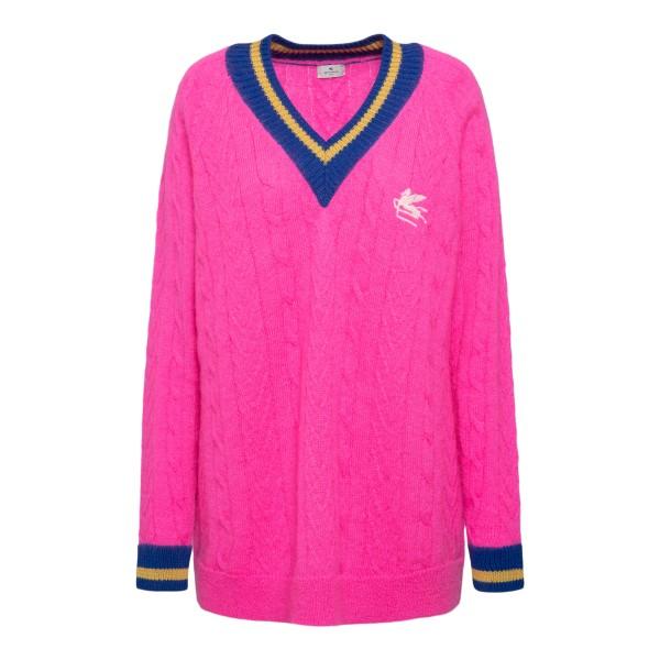 Fuchsia sweater with logo                                                                                                                             Etro 212D187369213 back