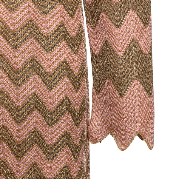 Long gold and pink cardigan                                                                                                                            M MISSONI