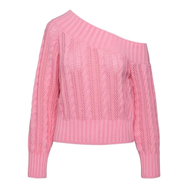 Maglione rosa con scollo asimmetrico                                                                                                                  Msgm 3042MDM216 retro