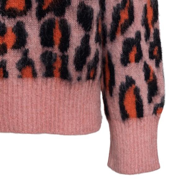 Pink animalier sweater                                                                                                                                 MSGM
