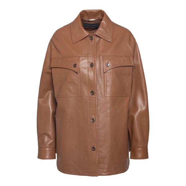 Giacca a camicia marrone                                                                                                                              Alberta Ferretti 3712 retro