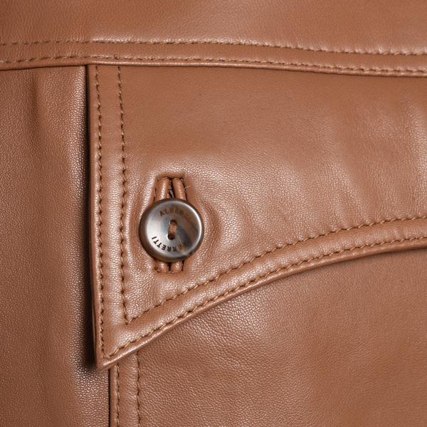 Brown shirt jacket                                                                                                                                     ALBERTA FERRETTI