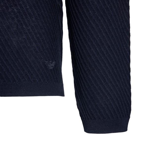 Maglione blu a righe sottili                                                                                                                           EMPORIO ARMANI                                     EMPORIO ARMANI