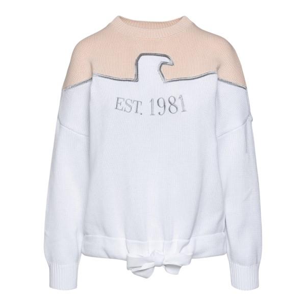 Maglione rosa e bianca con stampa                                                                                                                     Emporio Armani 3K2MT2 retro